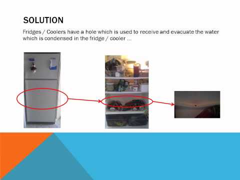 How to fix a refrigerator / fridge / cooler  that accumulates water