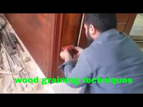 How to create teak wood grain on painted any surface,Teak Wood grains art, Painting tips and techn,p