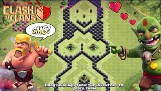 Clash Of Clans Town Hall 9 Sexiest Base Ever! Best Defensive/trophy Base - Troll Base Funny