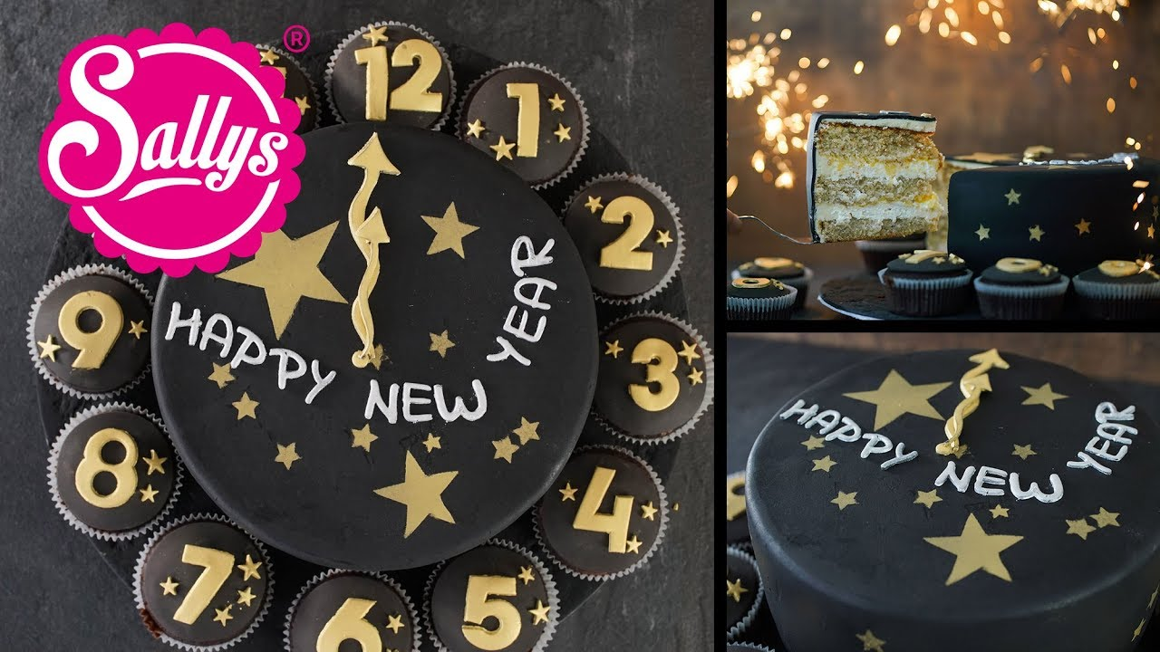 Silvester Torte Uhr Torte New Years Cake Youtube