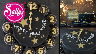 Silvester Torte / Uhr Torte / New Years Cake / Sallys Welt