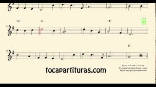 Ay del Chiquirritín Sheet Music for Tenor Saxophone Clarinet and Soprano Sax with Chords