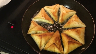 Beef samosas. Easy recipe for beef samosas with tortillas