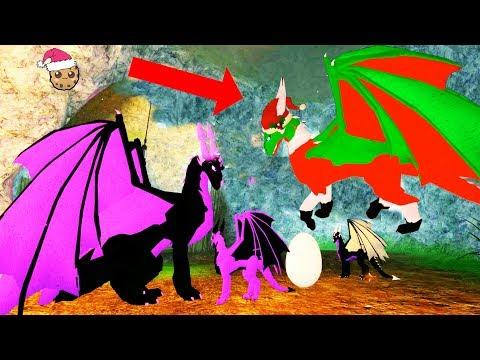 Flying Elf Dragon ! Baby Dragons Life Roblox Christmas Holiday Video