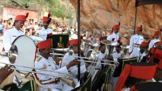 Sainik School Bijapur, Maratha Light Infantry Band at Badami  3