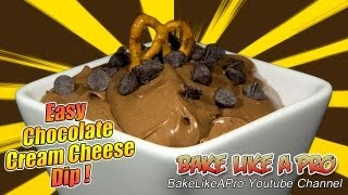 Easy Cream Cheese Dip Recipe / Chocolate Fudge Dip Recipe