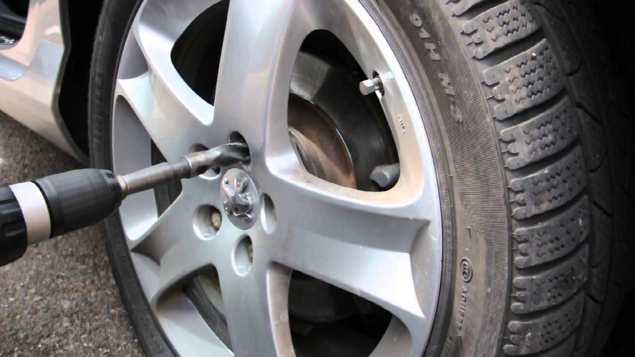 How To Remove Locking Wheel Bolts Peugeot 407 Reaming