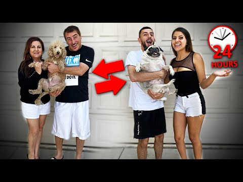 WE SWITCHED DOGS WITH MY PARENTS FOR 24 HOURS...