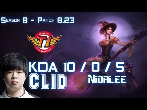 SKT T1 Clid NIDALEE vs LEE SIN Jungle - Patch 8.23 KR Ranked