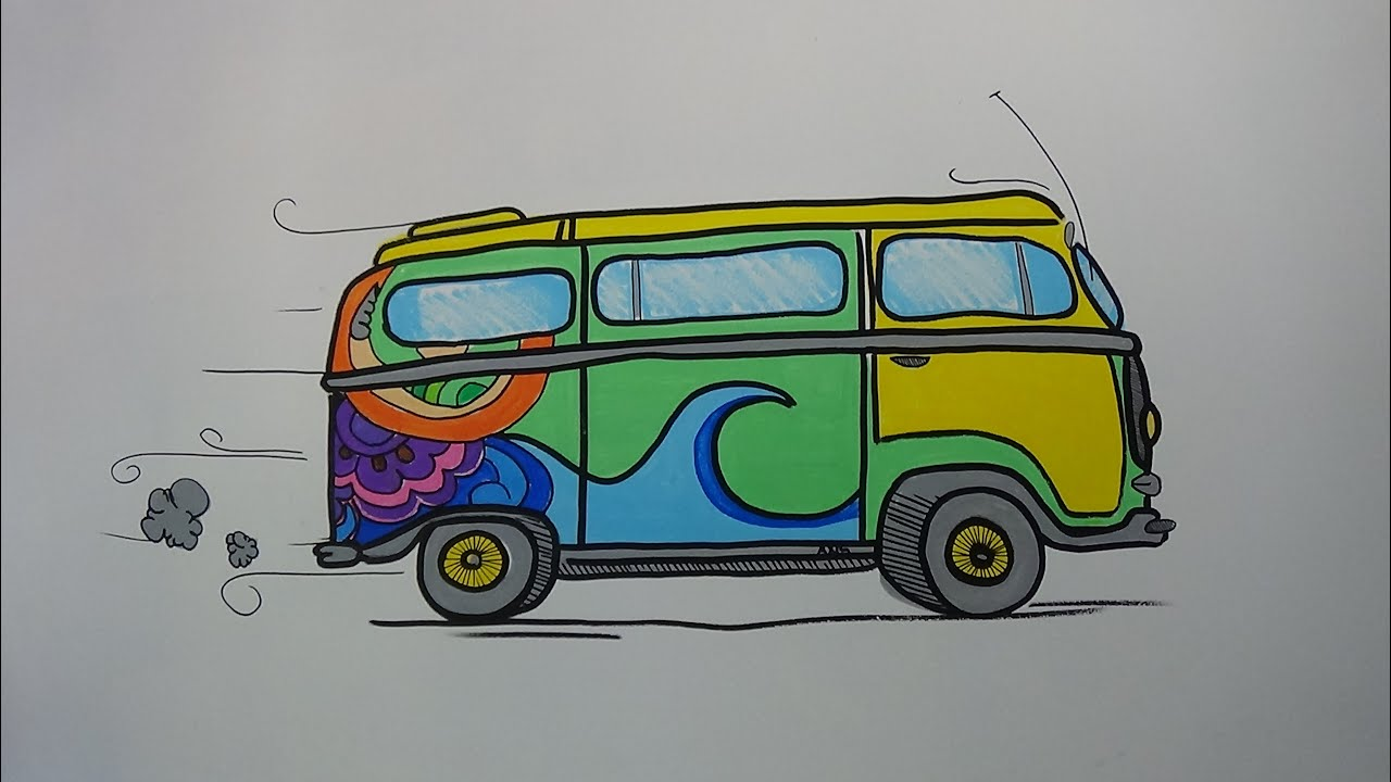 Pinturas Hippies Pintura Na Parede Time Lapse Kombi Hippie Youtube