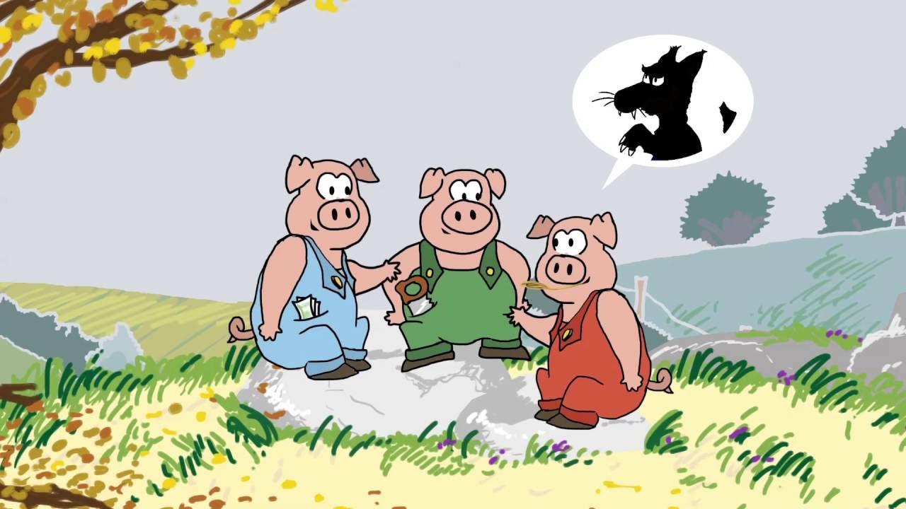 le mensonge des trois petits cochons youtube. Black Bedroom Furniture Sets. Home Design Ideas