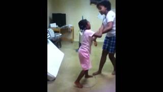 little girl attacking