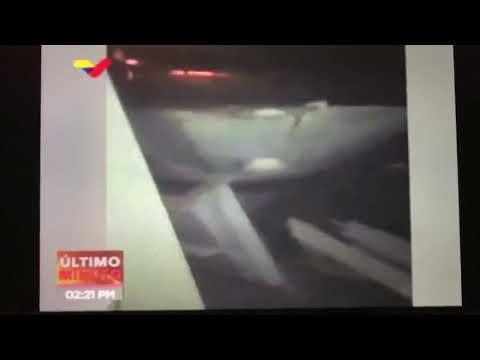 0 Venezuela divulga vídeo da colisão de seu navio de guerra
