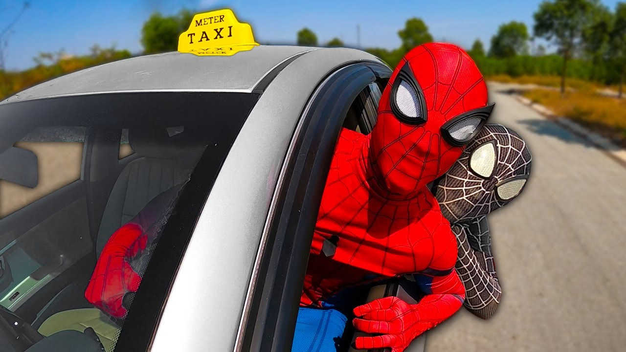 Download SUPERHERO In Real Life   SPIDER-MAN Taxi, DOUBLE VENOM, and DEADPOOL Driver   Comedy Funny Video