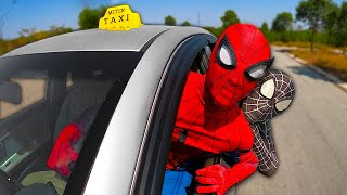 Download lagu SUPERHERO In Real Life | SPIDER-MAN Taxi, DOUBLE VENOM, and DEADPOOL Driver | Siêu Anh Hùng Lái Taxi