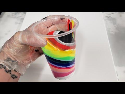 28 Color Acrylic Pour with Arteza Pouring Paints COLORS REVERSED