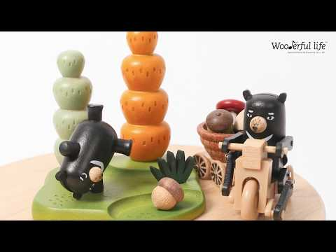 【Wooderful life】黑熊繞圈音樂鈴/黑熊
