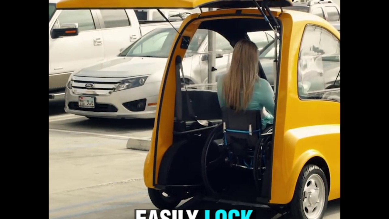Wheelchair Car Victorian Style Chairs Kenguru Is A Electric Hatchback For Users Youtube