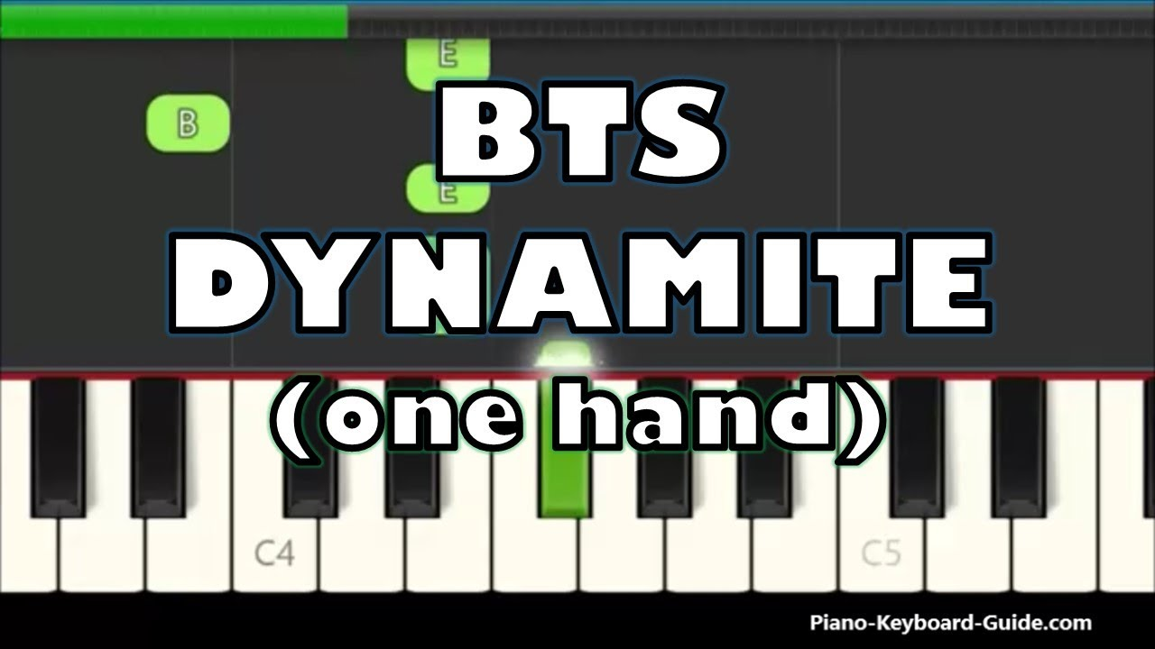 BTS - Dynamite (Right Hand Slow & Easy Piano Tutorial)