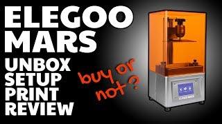Elegoo Mars HONEST REVIEW unbox setup prints + DAMAGE