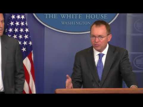 President not to blame for shutdown impasse: Mick Mulvaney