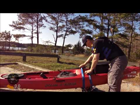 How to load and roll with your kayak cart.