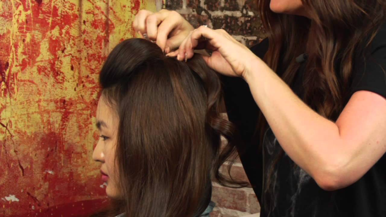 how to pin your bangs back & make a little poof : mane street
