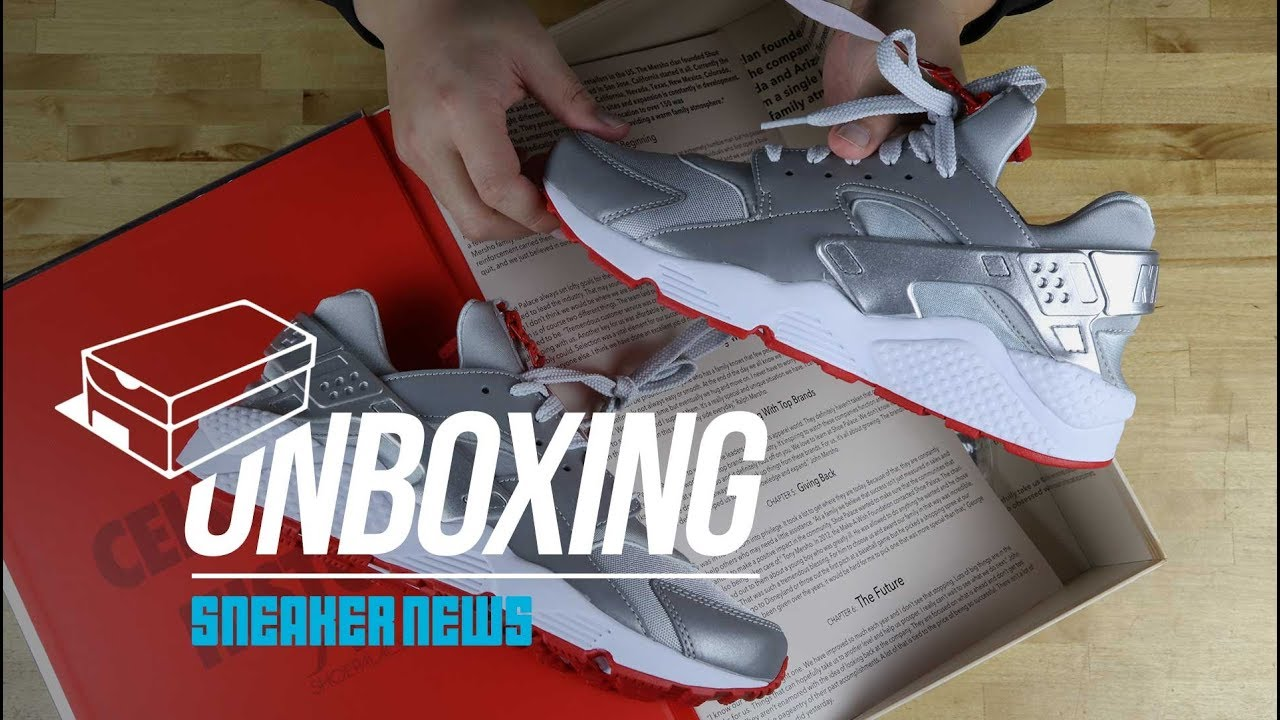 370c55467a4c21 500 Pairs Only! Unboxing Shoe Palace Nike Huarache - YouTube