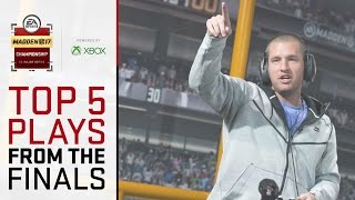 Madden 17 Championship - Top 5 Plays From The Live Finals! thumbnail