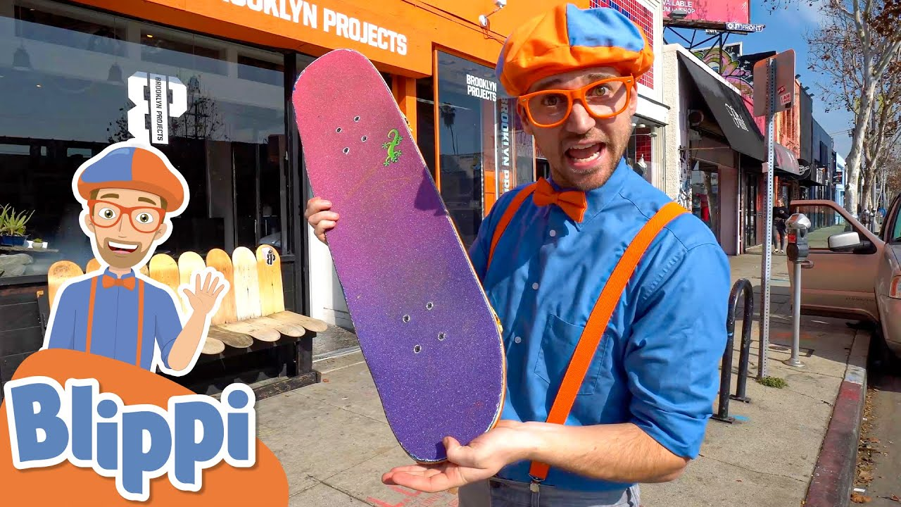Blippi Learns To Skateboard With Shaun White | Activities for Kids | Educational Videos for Toddlers