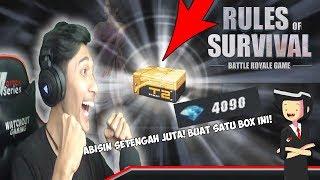 """Buka satu """"BOX"""" di ROS! harganya setengah JUTA!! GILA - Rules Of Survival Indonesia"""