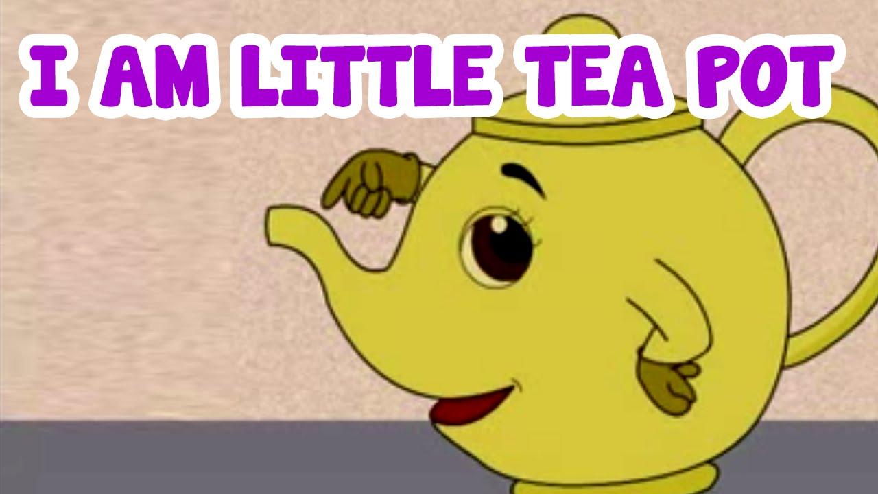 I Am Little Tea Pot Cartoon Rhyme For Kids English Nursery Rhyme