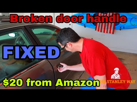 2005 Nissan Altima exterior door handle replace. Easy DIY fix for any car! You can do it!!