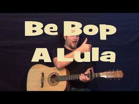 Be Bop A Lula (Gene Vincent) Guitar Lesson Strum Chord Licks How To Play Tutorial