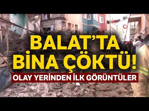 Fatih Balat'ta 3 Katlı Bina Çöktü