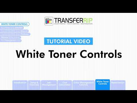 TransferRIP Part 6 #1   Introduction - White Channel Controls