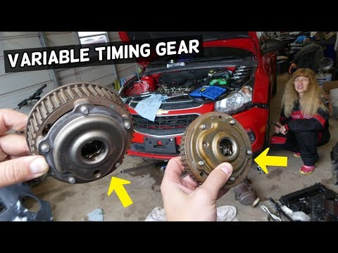 VVT VARIABLE TIMING GEAR SPROCKET REPLACEMENT REMOVAL.CHEVROLET CRUZE CHEVY SONIC 1.8 1.6