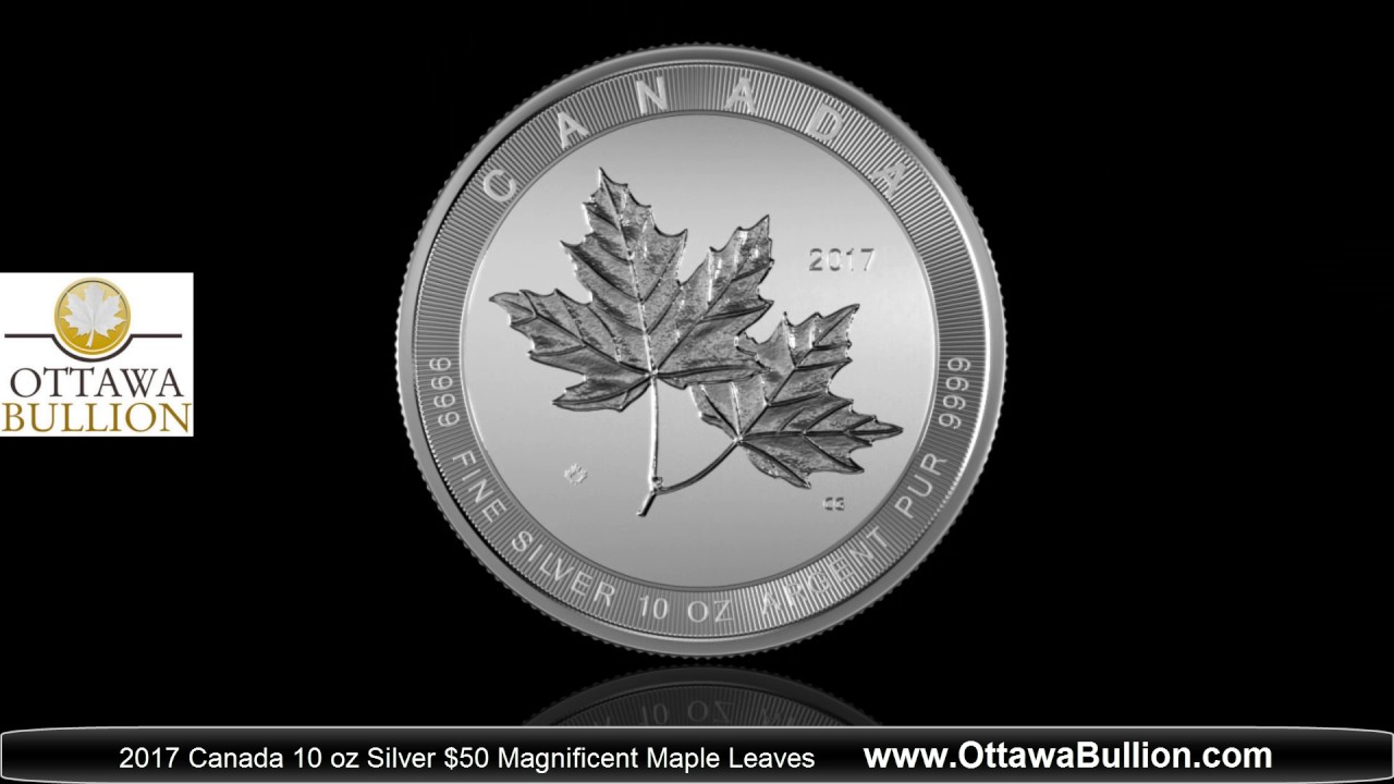 2017 Royal Canadian Mint 10 Oz Silver 50 Magnificent