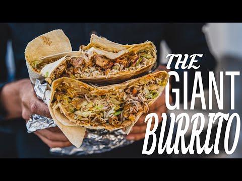 How to wrap the BIGGEST BURRITO I EVER MADE  -- Burrito Wrap Challenge