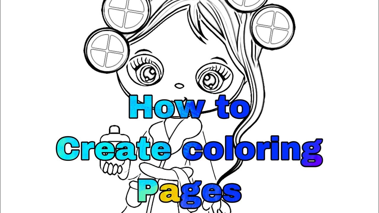 How To Create Coloring Pages Using An App Youtube