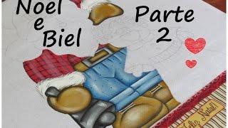 Como pintar papai noel – Noel e Biel – Parte 2 – Artes Mariana Santos