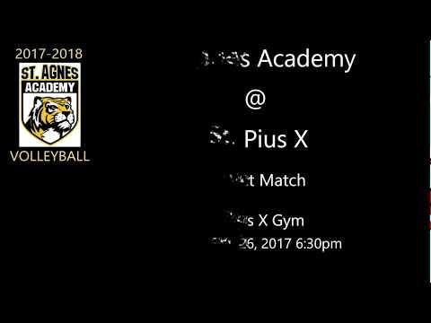 St  Agnes Academy @ St. Pius X - District Match - 09/26/2017