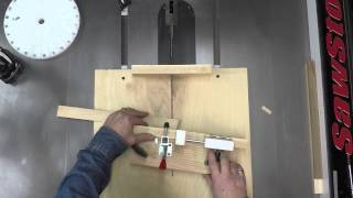 Table Saw Sled For Open Segment Vessels