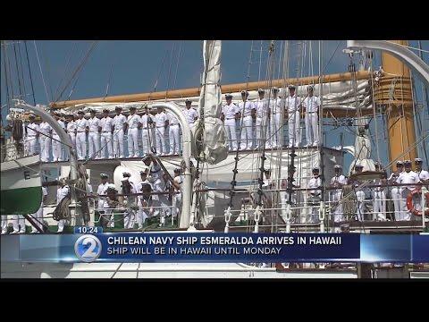 Chilean Navy tall ship Esmeralda arrives in Honolulu