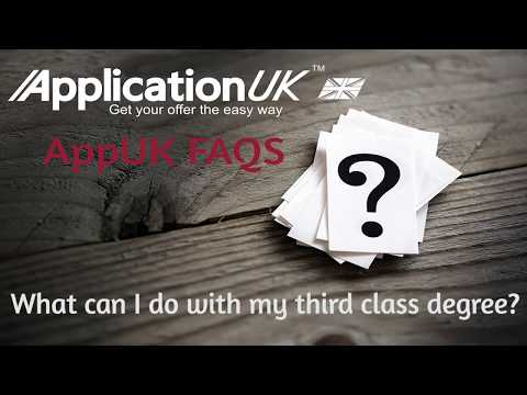 AppUK FAQs - What can I do with my third class degree?