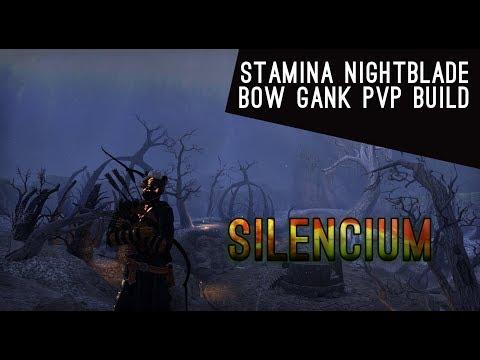 Stamina Nightblade Bow Gank Build - Horns of the Reach