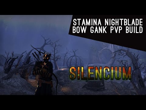 Stamina Nightblade Bow Gank Build - Horns of the Reach