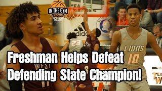 STATEMENT MADE! Freshman Tae Jackson Helps Take Down Defending State Champ!