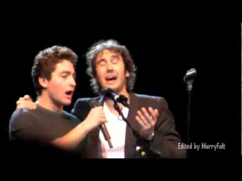 A young man in the audience sings with Josh Groban & shocks him! - Josh Page (FORTE on AGT)