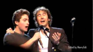 A young man in the audience sings with Josh Groban & shocks him! - Josh Page (FORTE on AGT) thumbnail